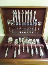 vintage ornate silverplate flatware silverware set rogers first love