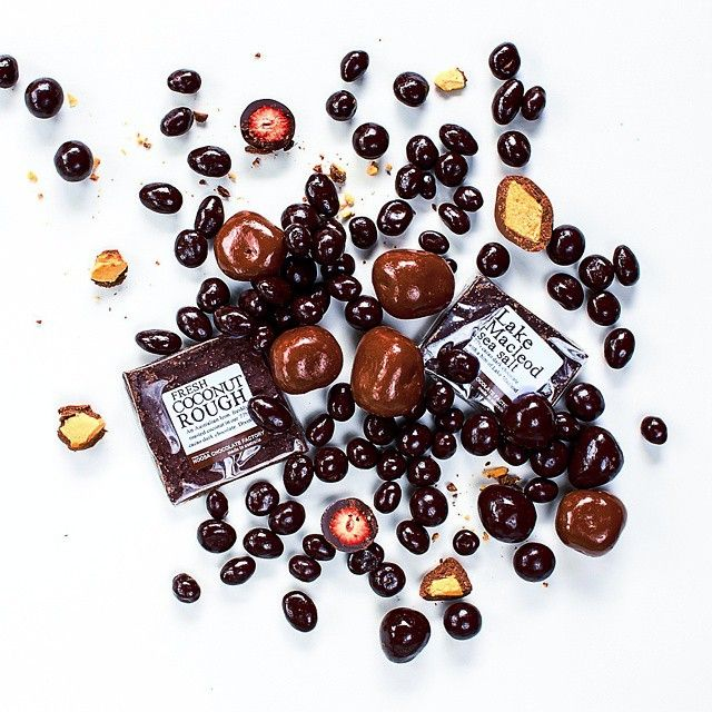 #Easter gifts (to ourselves) all wrapped up with #darkchocolate coated strawberries, almonds and macadamias, #honeycomb, #coconut rough and #rockyroad, all thanks to Noosa Chocolate Factory! Find more #chocolate goodies near you on Locally Sourced http://goo.gl/nytAwq