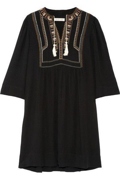 ETOILE ISABEL MARANT Clara embroidered crepe mini dress. #etoileisabelmarant #cloth #dresses