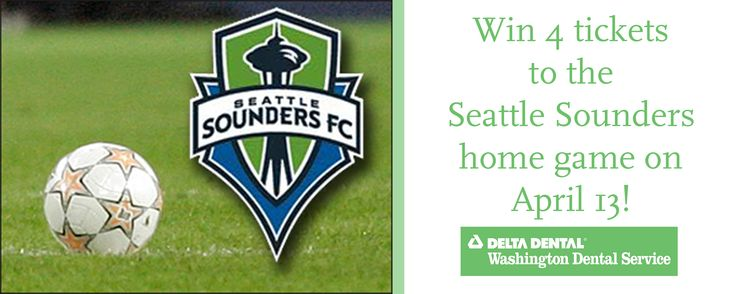 Win tickets to see the Seattle Sounders FC game 4/13 on Delta Dental/Washington Dental Service! #SmileWide