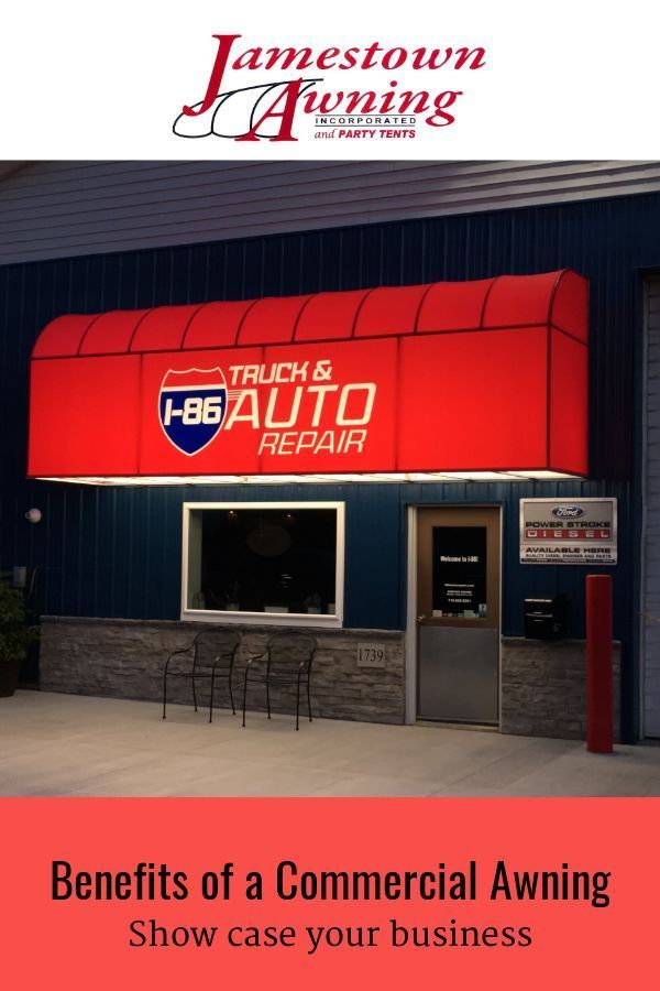 Jamestown Awning Offers A Variety Of Commercial Awnings And Awning Solutions To Meet Your Specific Business Needs Call Attenti In 2020 Patio Awning Awning Store Front
