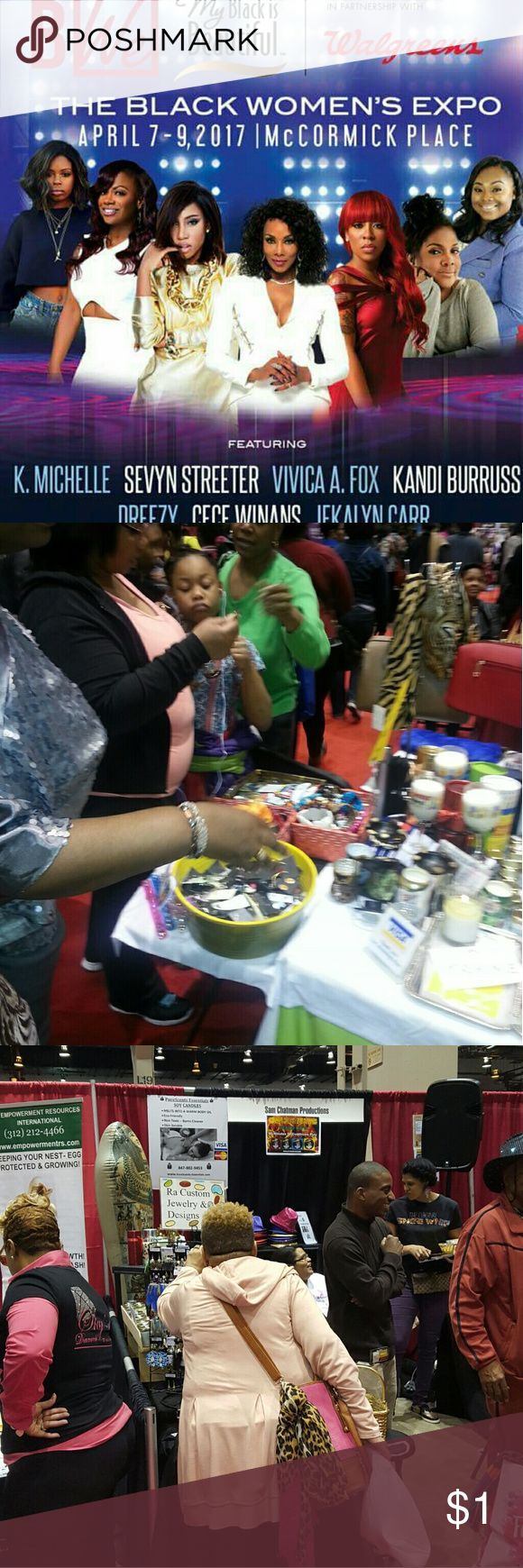 Ra Custom is a the Black Women Expo (Chicago) Ra Custom closet is at the Black Women Expo 2017 Chicago  April 7th Friday,   April 8th Saturday  and April 9th Sunday ?? http://www.theblackwomensexpo.com/ Jewelry Earrings