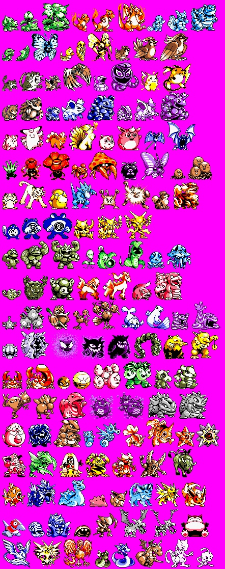 Original Pokemon sprites
