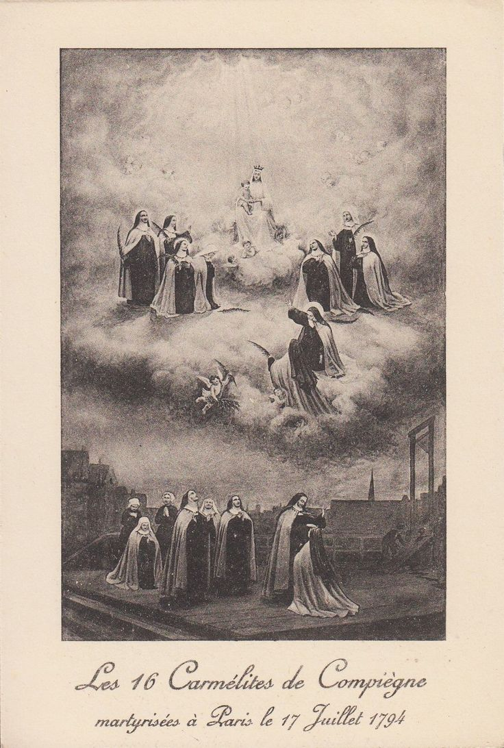 best images about carmelites st john s saint ordocarmelitarum the carmelites of compiegravegne martyred in paris on 17 1794