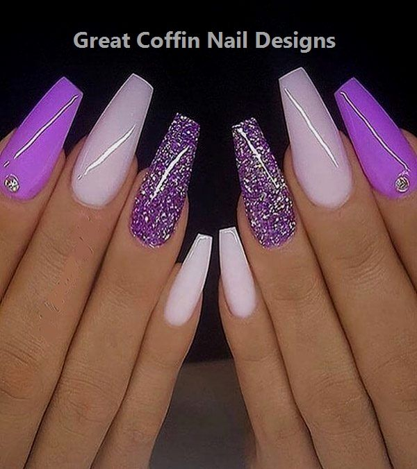 20 Trendy Coffin Nail Art Designs #nailartideas