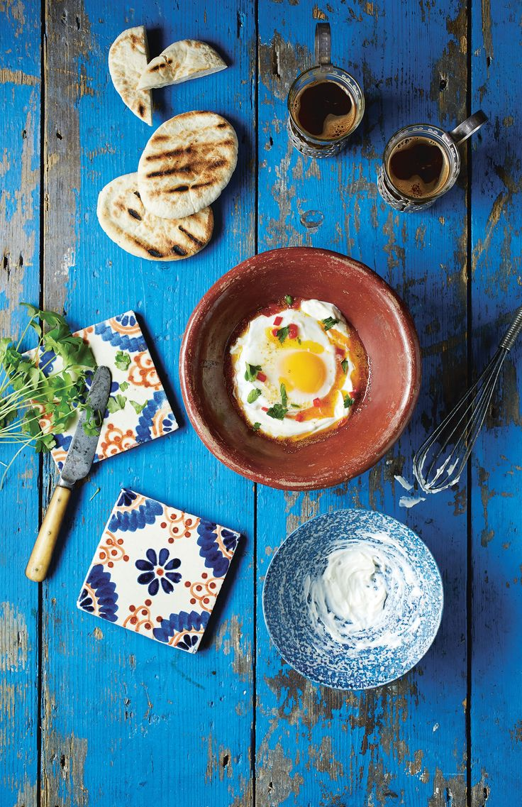 Turkish eggs, yoghurt and chilli butter recipe from Breakfast: Morning, Noon & Night by Fern Green   Cooked