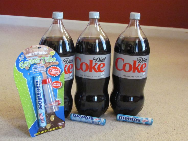 Mentos And Diet Coke Explosion This Science Experiment Is Fun And Easy At Home School Or For A