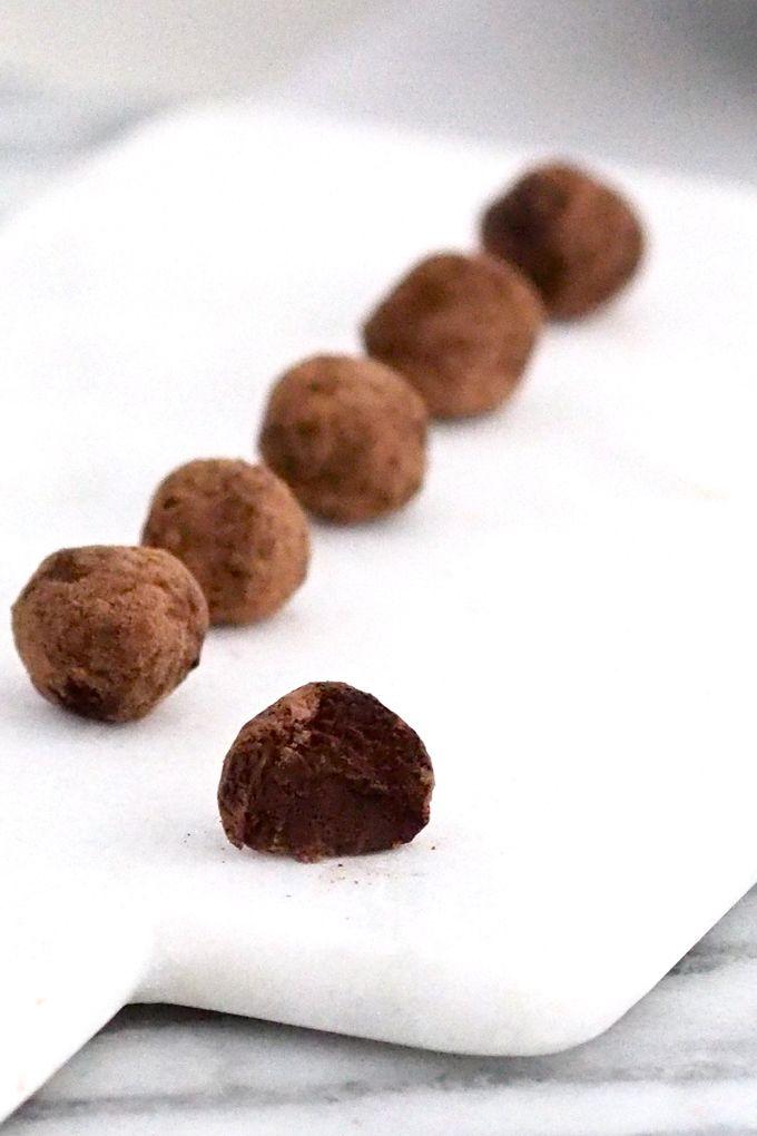 Raw chocolate acai balls from my blog