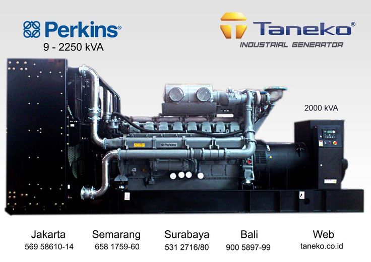 At frame : Genset Perkins 2000 kVA Open Type. Perkins 4016TAG2A coupled with Stamford P.I 734 F , 2000 kVA Prime Power Quality Generator Product from Taneko For Your Industrial Needs, CALL US NOW