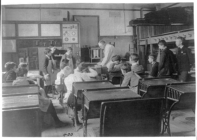 [Classroom scenes in Washington, D.C., public schools - carpentry class]