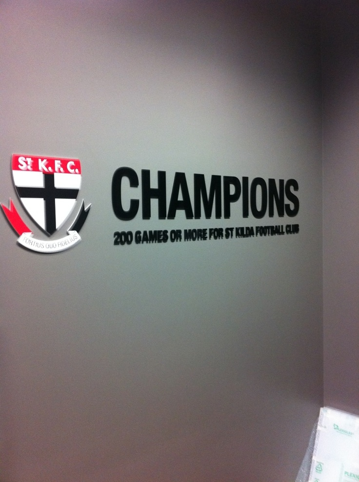 St Kilda Saints Champions Wall created by Taos #stkildasaints #interior #graphics