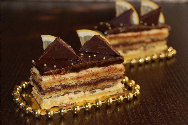 Торт Опера цитрусовый пошаговый рецепт с фотографиями