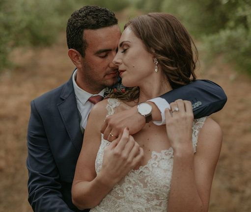 Real wedding: Jeani and Jean's rustic Tulbagh wedding. That dress!