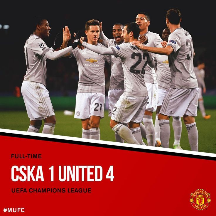 FT: CSKA 1 #MUFC 4. The Reds score four again to get the job done in Moscow in some style!