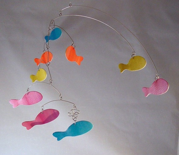 School of Fish Art Mobiles Hanging Mobile Ceiling by skysetter, $59.00