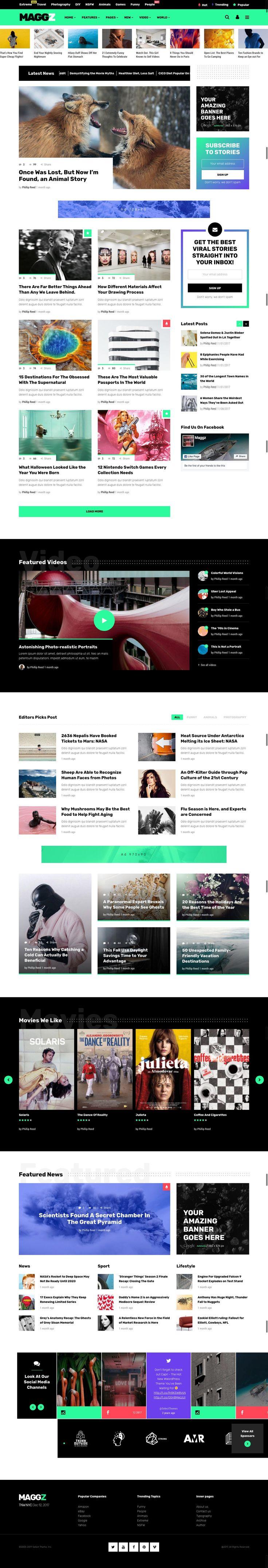 A Creative Viral Magazine and Blog Theme