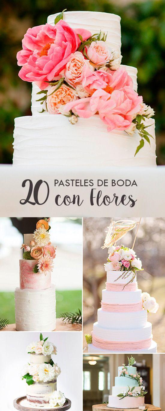 20 Pasteles de Boda con Flores | El Blog de una Novia