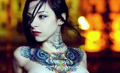 GoGo: Hot Girls, Ink Girls, Chest Tattoo, Gogo Blackwat, Suicide Girls, Body Art, A Tattoo, Rose Tattoo, Tattoo Girls