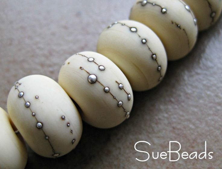 Silver Treatments on Glass Beads - Artisan Whimsy - Awesome beads and tutorial by Susan Kennedy