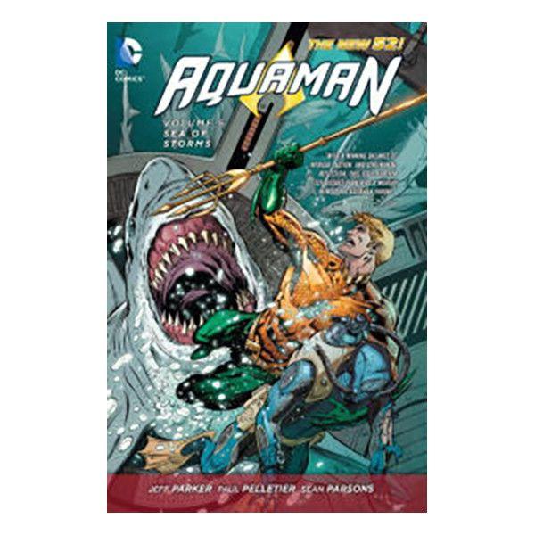 Aquaman Vol. 5: Sea of Storms (The New 52) Hardcover