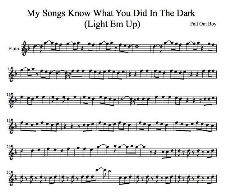 I did not make this!!! All rights go to Fall Out Boy and whoever arranged this song