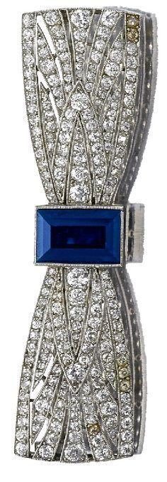 Sapphire and diamond brooch by Boucheron
