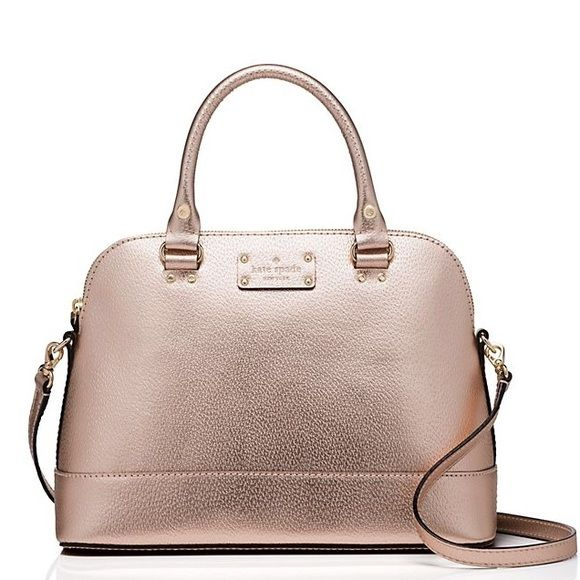 Kate spade rose gold bag So cute! Perfect for on the go shopping Same day/next day shipping ❌ No trades ✅ Feel free to make an offer, no low balling! ❤️ Remember posh takes 20% and I'm a broke college student that has to make a profit too kate spade Bags Satchels