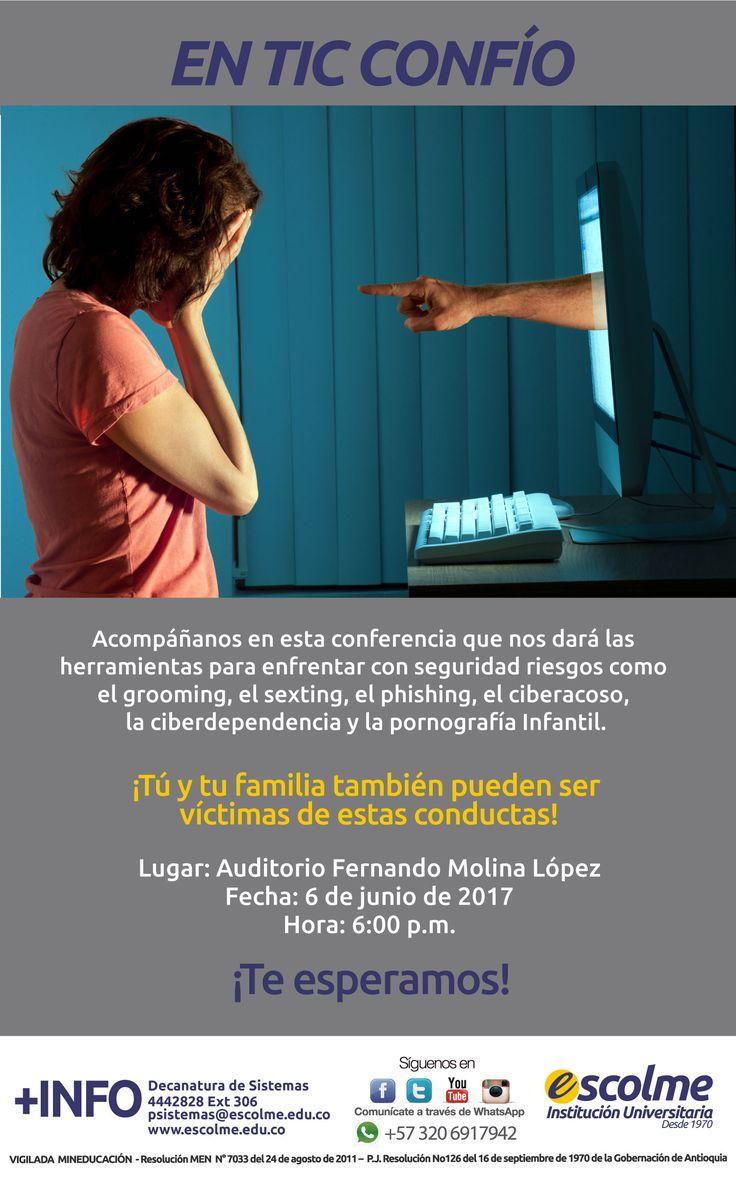 @Escolmeeduco ¡Acompáñanos este 6 de junio en la conferencia en TIC CONFÍO!