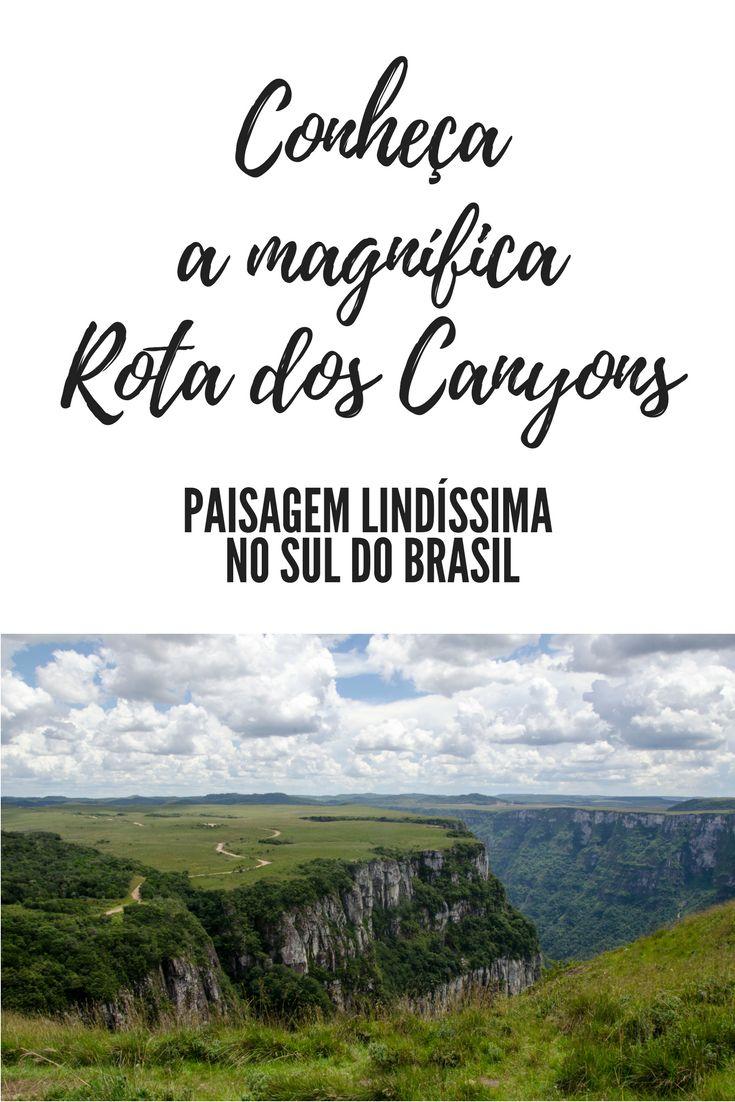 Sabia que há uma Rota dos Canyons na região serrana entre Santa Catarina e Rio Grande do Sul? Pois é... um lugar lindíssimo que vale a pena ser conhecido!