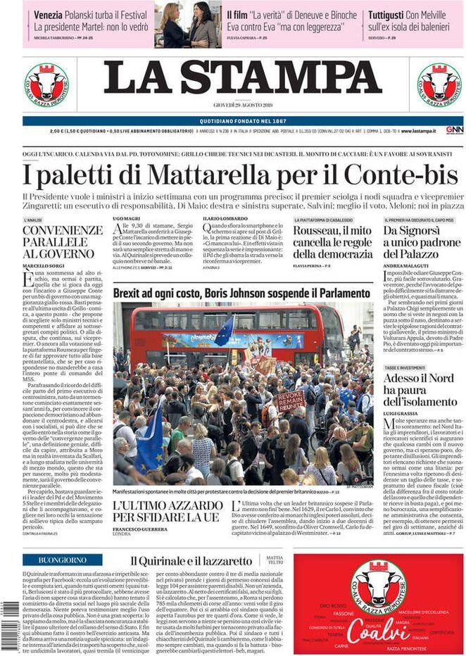 Prima Pagina La Stampa Giornalone Stampe Romanzi Film