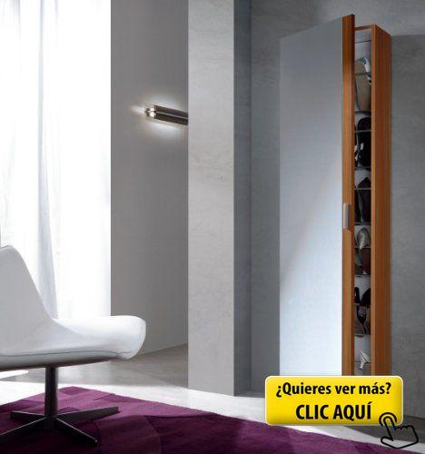 Habitdesign 007866C - Armario zapatero con espejo,... #zapatero