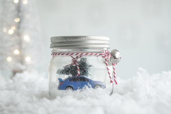 Blue Subaru Sti Decor Car In A Jar Wrb Sti Sti Decor Wrx Etsy In 2020 Holiday Mason Jar Mason Jar Christmas Gifts Mason Jars