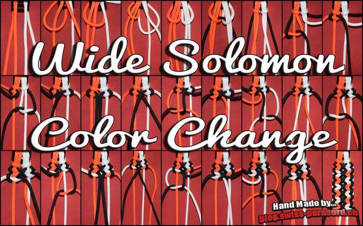 WIDE SOLOMON COLOR CHANGE -  blog.swiss-paracord.ch