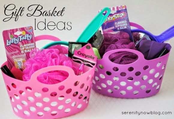 How to make a gift basket! (Girl's Birthday Gift Idea...plus more theme ideas for girls and boys!) from Serenity Now