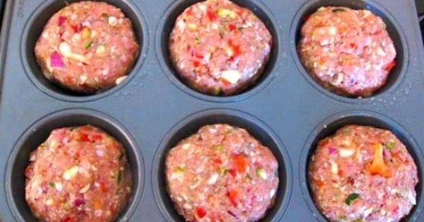 Gehakt muffins met een topping van aardappel puree. - Eten | Pinterest - Aardappelpuree, Aardappels en Gehaktbrood-cupcakes