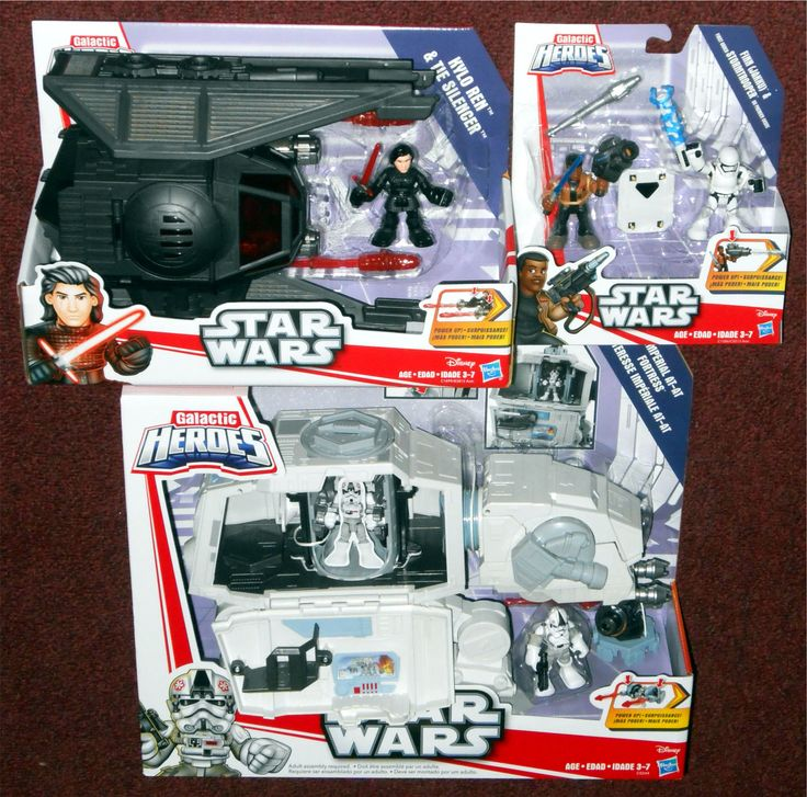 Picked up at Blain's Farm & Fleet today: Hasbro Star Wars Galactic Heroes * Kylo Ren & TIE Silencer * Finn (Jakku) & First Order Stormtrooper * Imperial AT-AT Fortress