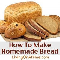 I love this recipe! Looking for ways to make homemade bread easier? You can make these fresh breads at home in a few minutes for less than 50 cents a loaf. Click here to get this yummy #recipe from Dining On A Dime Cookbook http://www.livingonadime.com/store/dining-on-a-dime-cookbook/.
