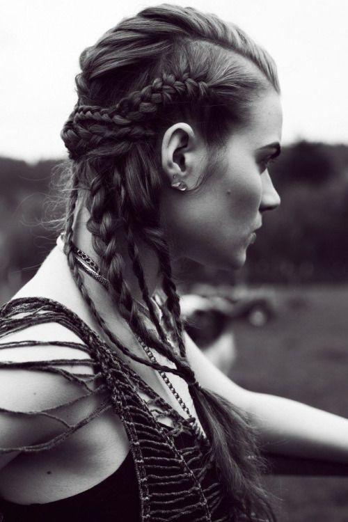 "Viking Hair with a modern ""twist"" inspired by Vikings Series!!! Gorgeous!!!"