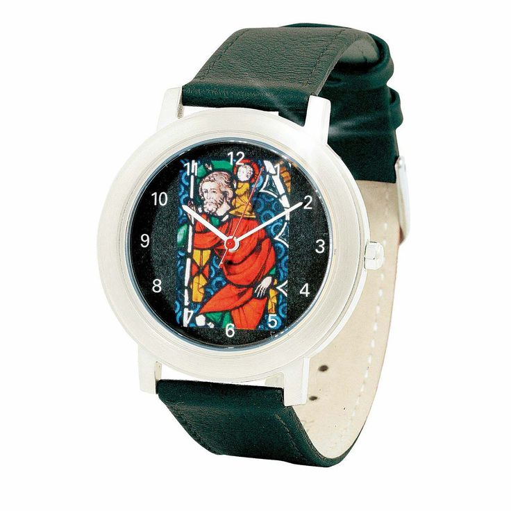 Stilvolle #Armbanduhr mit dem Motiv des heiligen #Christophorus