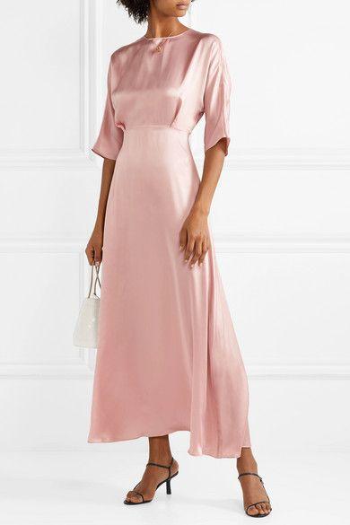 b3cf7410307e Mansur Gavriel   Silk-satin maxi dress   NET-A-PORTER.COM   SO ...