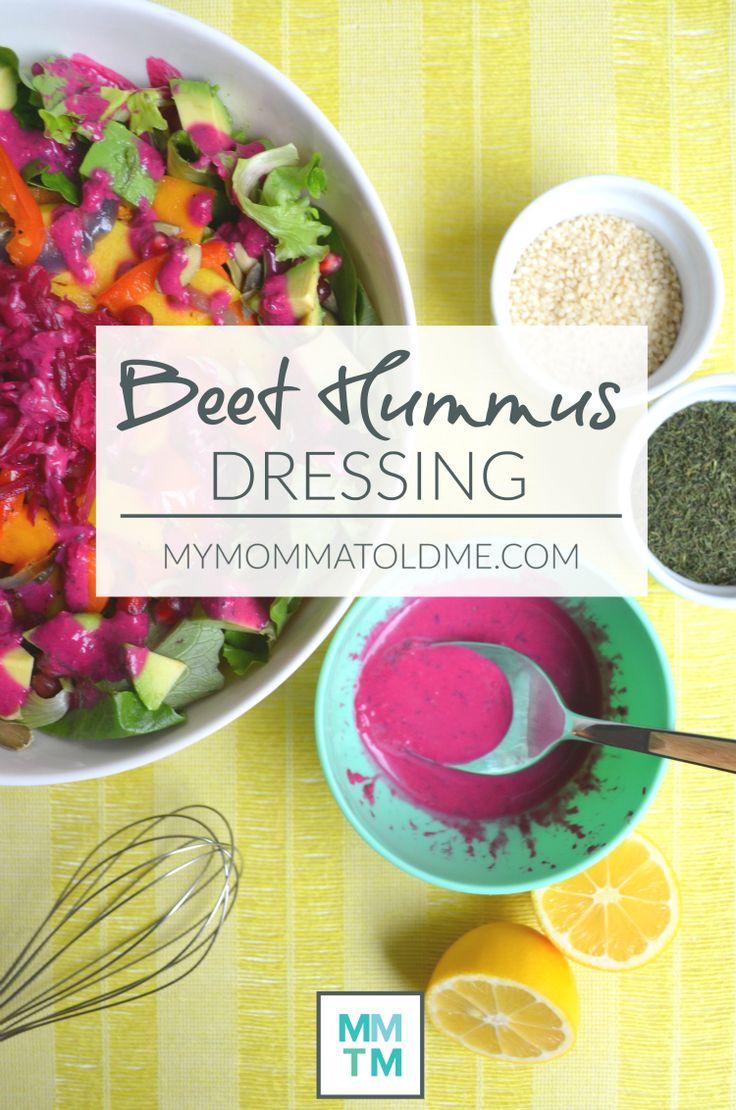 Beet Hummus Dressing Dr Fuhrman Eat to Live 6 week plan recipe oil free salad dressing recipe