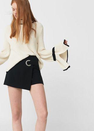 Buckled skirt pants -  Women | MANGO USA