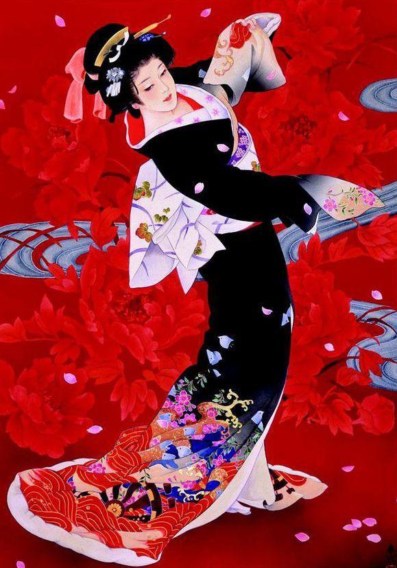 нее японский танец в картинках явные