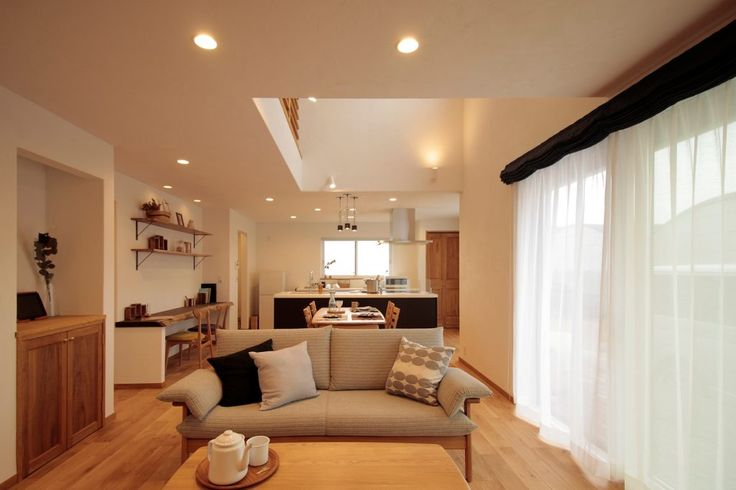 憧れのオープンキッチン×収納力!上質なシンプルハウス