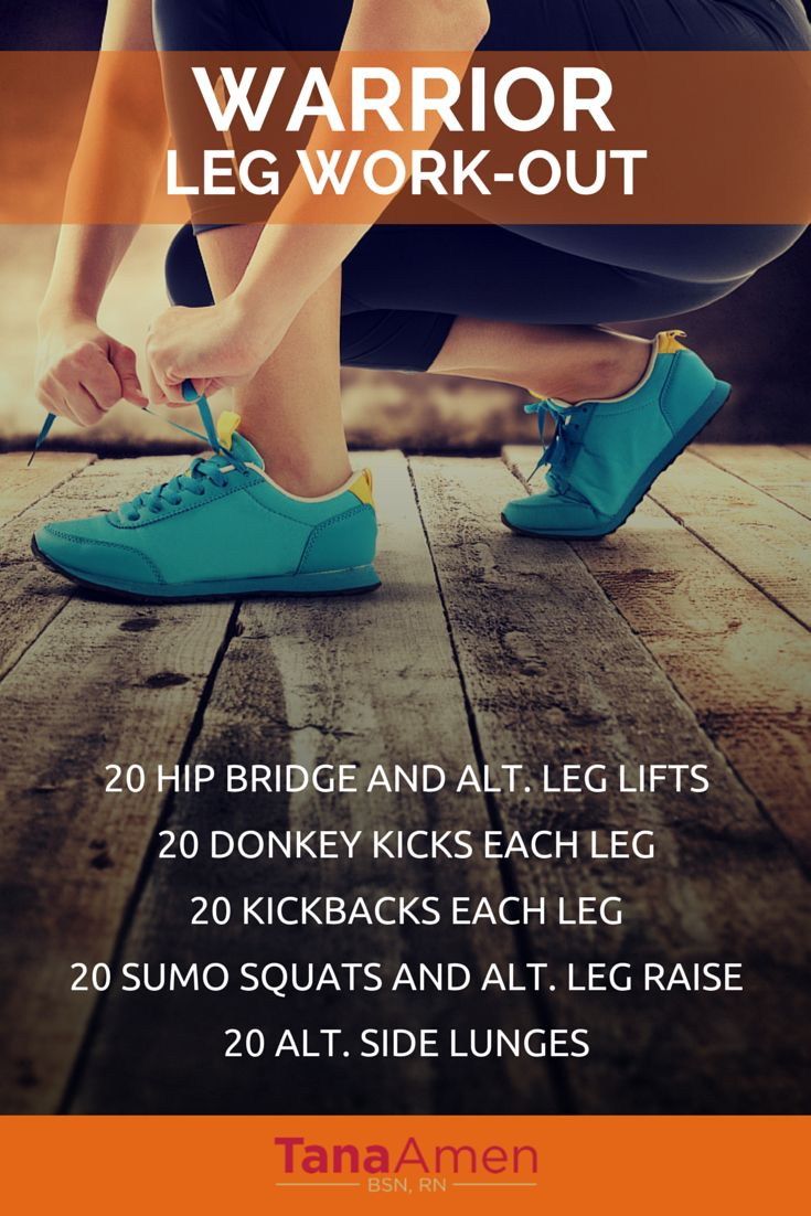 Warrior Leg Workout -20 hip bridge and alt. leg lifts -20 donkey kicks