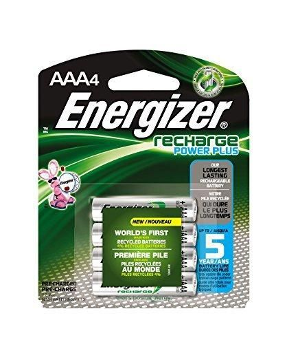 Energizer EVENH12BP4 Recharge Power Plus AAA 700 mAh Rechargeable Batteries Pre-Charged (Pack of 4)