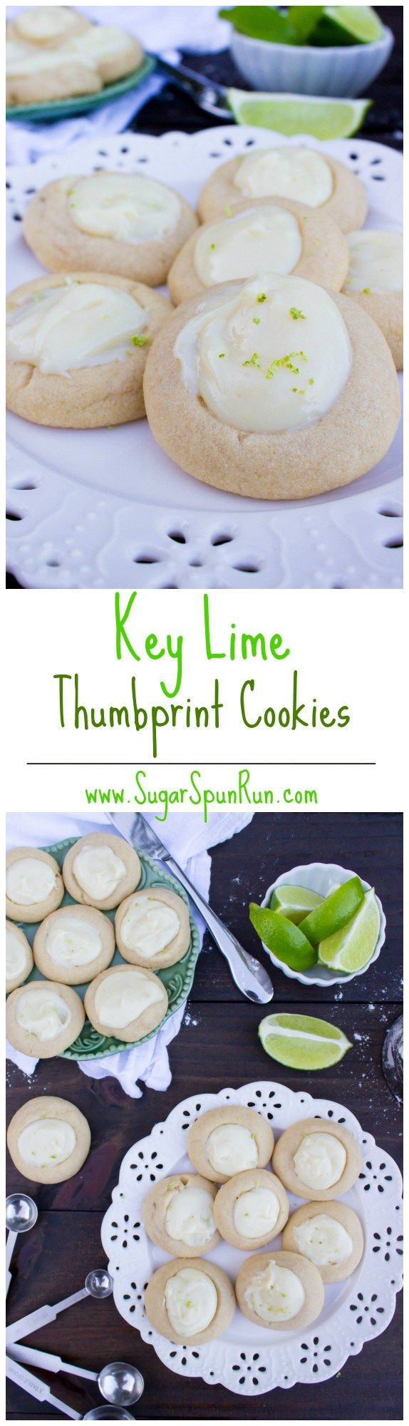 Key Lime Thumbprint Cookies | Recipe | Thumbprint Cookies, Key Lime ...