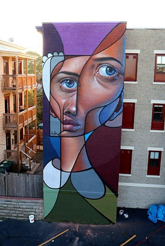 Best Street ArtMurals Images On Pinterest Urban Art - Artist paints incredible seaside murals balanced on surfboard