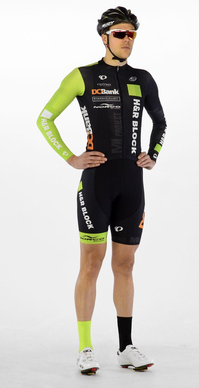felemás! - Garrett McLeod of H&R Block Pro Cycling sports the team's 2015 kit. Photo credit: Tony Mayer
