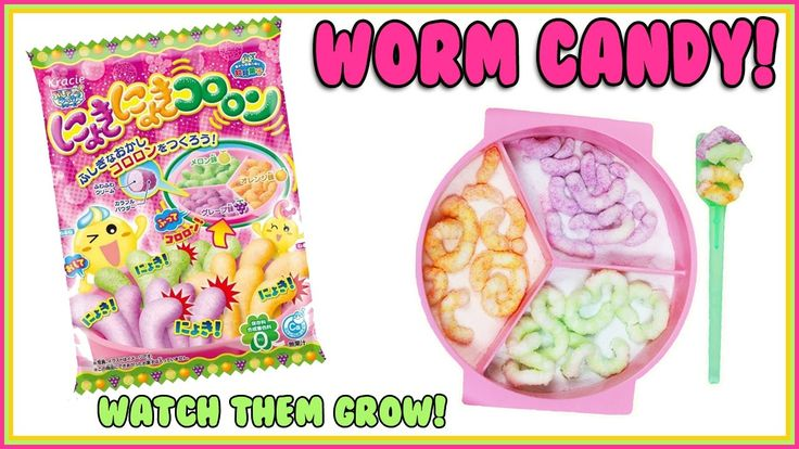 GUMMY Worms Japanese Candy Making Kit. Kracie Nyokinyoki Kororon DIY How To! Today we are making some awesome worm candy! If you like Japanese candy making k...